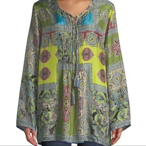 Johnny Was Silk Tunic/Hana Paisley Top/2X-20/NWT